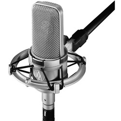 Audio Technica AT4047 Large Diaphragm Cardioid Condenser w/ FET, Shock Mount (Silver)