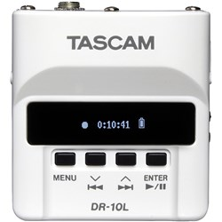 Tascam DR10L Micro Linear PCM Recorder w/ Lavalier Mic (White)