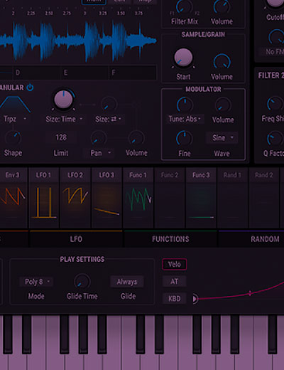 Screenshot of the Pigmants synth VST